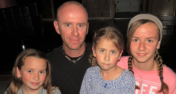 FAMILY: Sean Sullivan and his daughters Polly, Mindy and Annie are looking forward to Father's Day.
