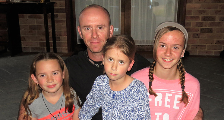 Corporal Sean Sullivan to celebrate Father's Day at home with his family