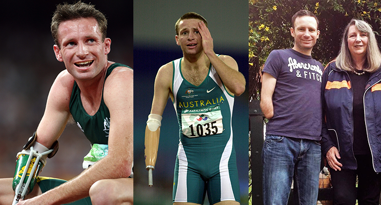 GOLD MEDALIST: Heath Francis in Beijing shortly after winning the 400 metres in 2008. (left)AUSTRALIAN GOLD: Heath Francis in Sydney after winning the 400 metres.(center)CHAMPION TEAM: Heath Francis and his mother Margaret.(right)