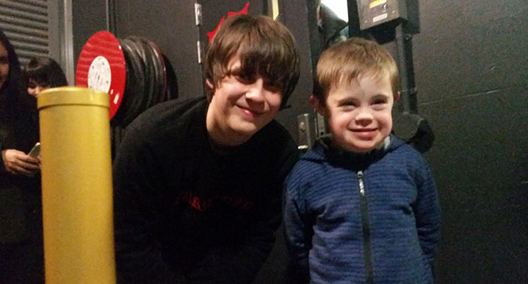 Levi meeting his musical idol Jake Bugg. Photos by Olivia Hurstfield