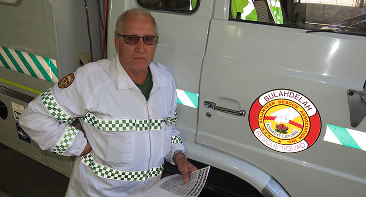 SEARCH: Bulahdelah Volunteer Rescue Association member Mr Peter Mostyn.
