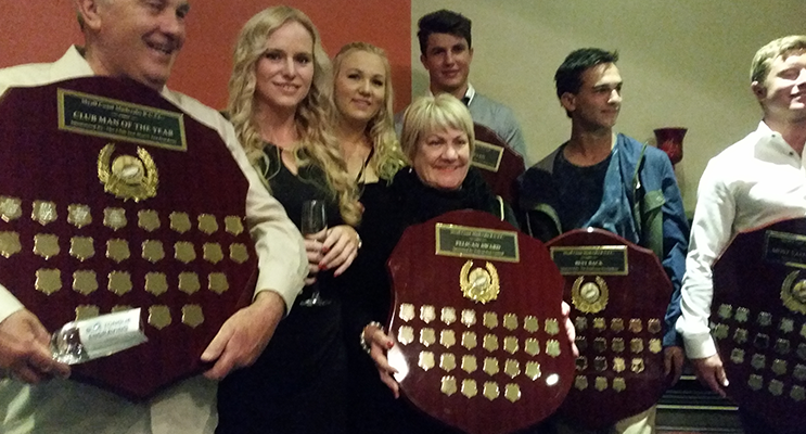 Club Persons of the Year, Stephanie Rushby, Peter Weir, Fiona Mobbs.
