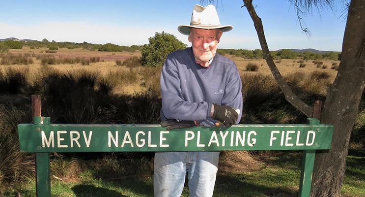 RECOGNITION: Tea Gardens School oval was named after long-serving volunteer Merv Nagle.