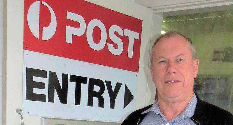 OPAL CARD: Roger Dixon at Bulahdelah Post Office.
