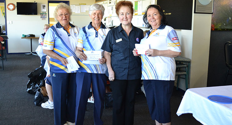 WINNERS: Maynie Roberts, Jo Younghusband, Lyndall Ryder (RSL Lifecare), Susan Gate-Rigutto.