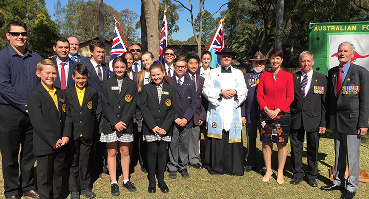 Community and school representatives at the service