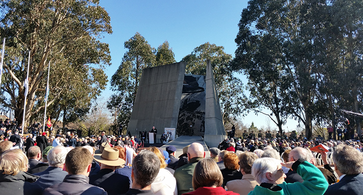 The Vietnam Memorial service on Anzac Parade, Canberra