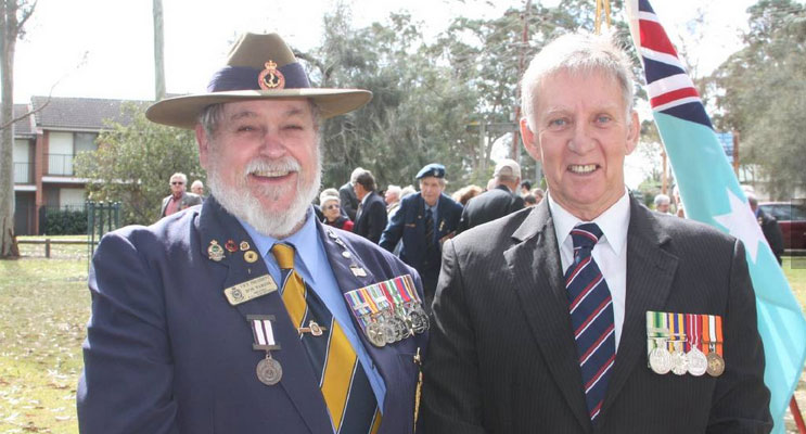 A short service was held at Lions Park in Medowie to mark Vietnam Veterans Day on August 18