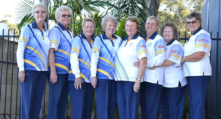 Kerry Faber, Carol Hayden, Wendy Brand, Nola Jackson, Lorraine Harvey, Lyn Green, Vicki Rankin and Karen Mcphie.