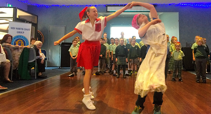 MUSICAL: St Joseph's students Ella and Connor perform at the CWA International Day.