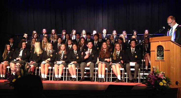 Year 12 students St Philip's Christian College Salamander Bay graduate