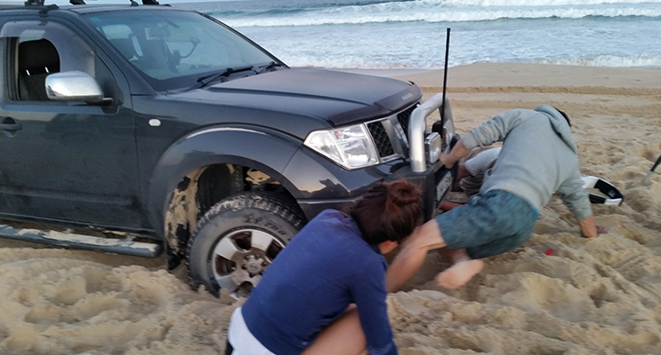 Bogged on Bennetts Beach.