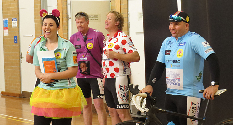 SHOW: Camp Quality cyclists talk about their ride for kids with cancer.