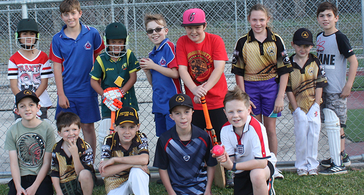 Junior Cricket Club members ready for the 2016 summer season.