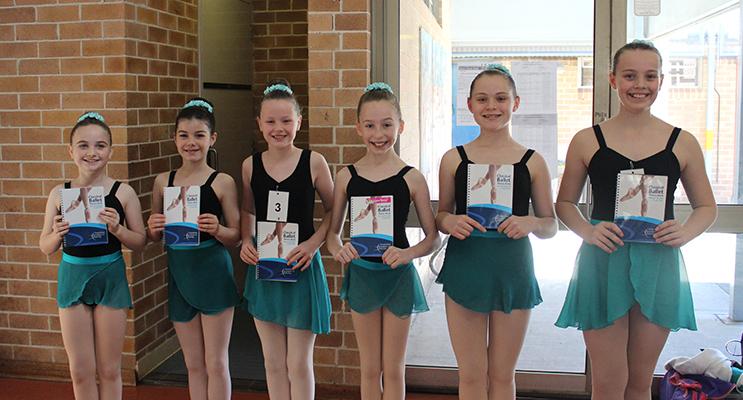 Silver Star Classical Ballet – Hilary Grainger, Keelie Perrett, Maddison Cunningham, Kyara Darcy, Heidi Farley and Olivia Lightfoot.