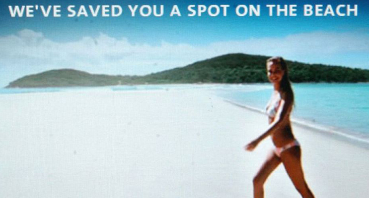 "Lara Bingle ""Where the bloody hell are ya?"" commercial (Photo courtesy of Tourism Australia)"