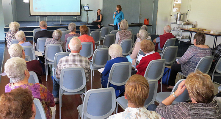 HEALTH EXPO: Sue Tripney from Gloucester Community Health talks about slips, trips and falls.