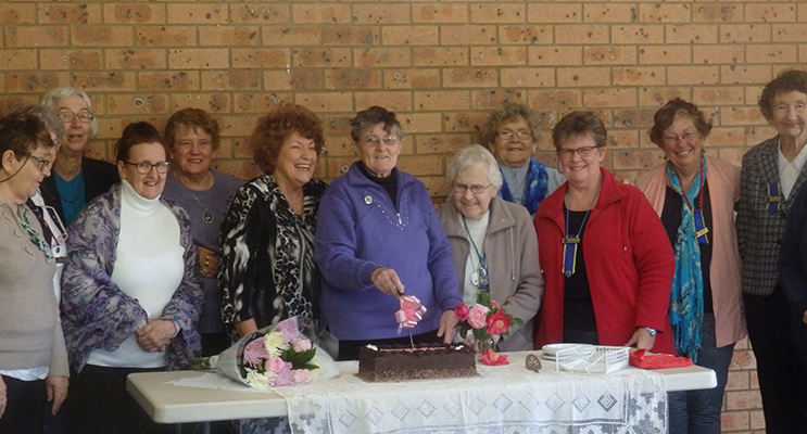 June Fuller with Medowie CWA Members at the presentation of her Lifetime Membership. Photo by Medowie CWA