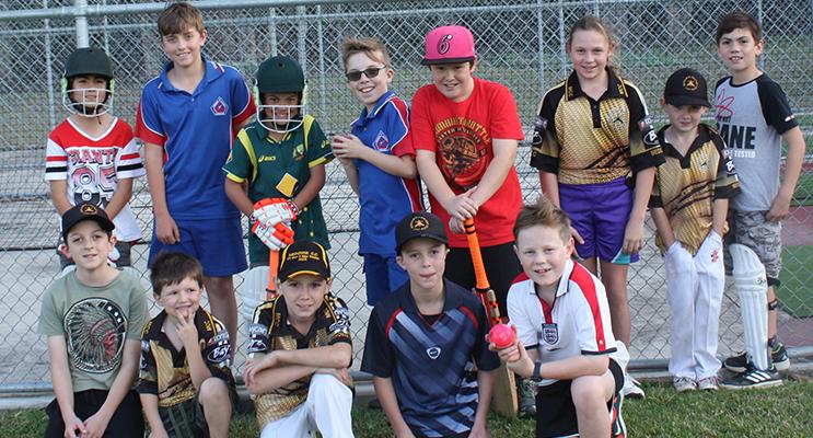 Junior Cricket Club members ready for the 2016 summer season.