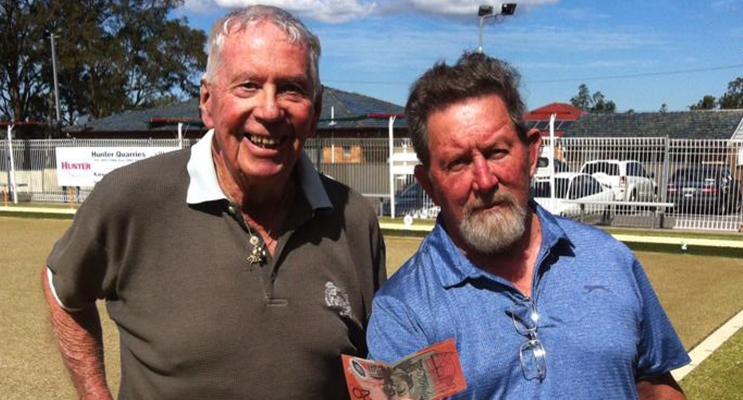 Bragging rites and pocket money go to Peter Cairnes and Dave Benson winners of last Thursdays social comp.