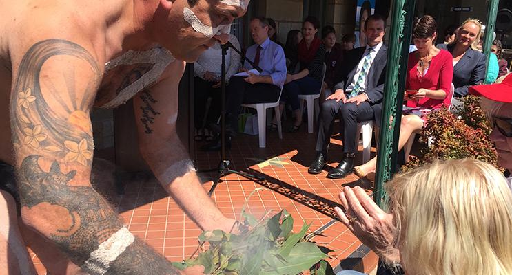 7.Justin Ridgeway during the smoking ceremony