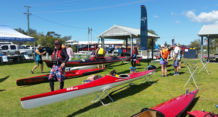 PADDLERS take to the Myall River at Tea Gardens.