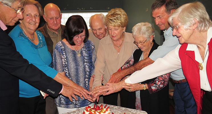 BIRTHDAY: Friends celebrate their 80th birthdays together.