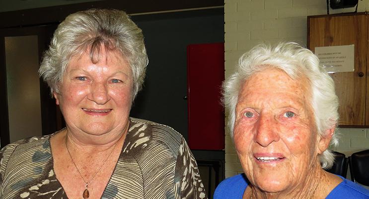 FRIENDS: Fay Morgan and Oly Hickey.