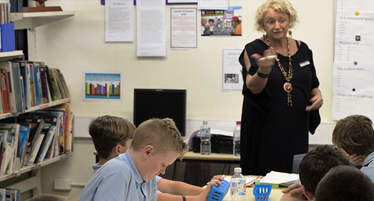 LESSON: BCS Teacher Mrs McMahon shows that spelling can be compelling.
