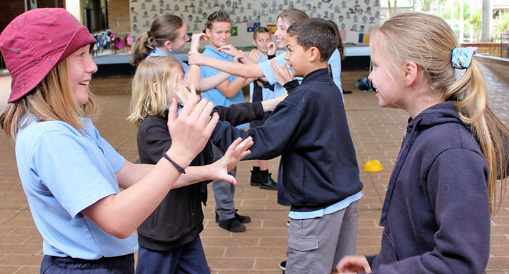 MEET: Myall Coast Year 6 students get to know each other.