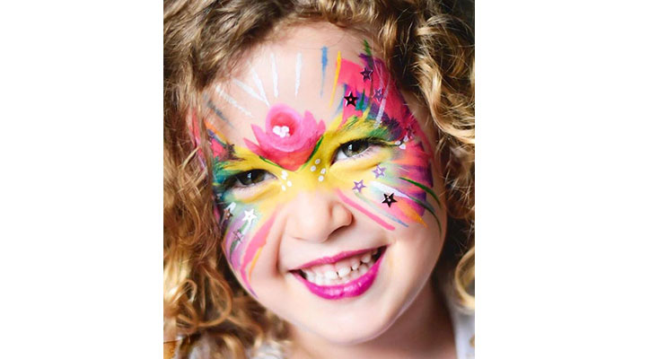 Savannah loves getting her face painted by Judi regularly.