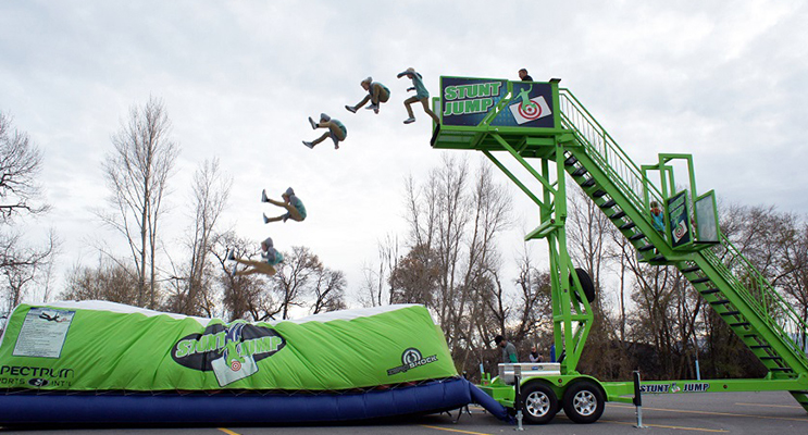 The Stunt jump promises to give you an adrenalin rush (photo courtesy of Planet Entertainment)