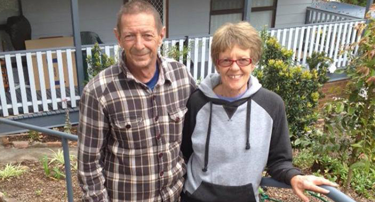 Bobby and Cheryl, so grateful for everyone's help (Photo courtesy of Maureen Hopkins,)