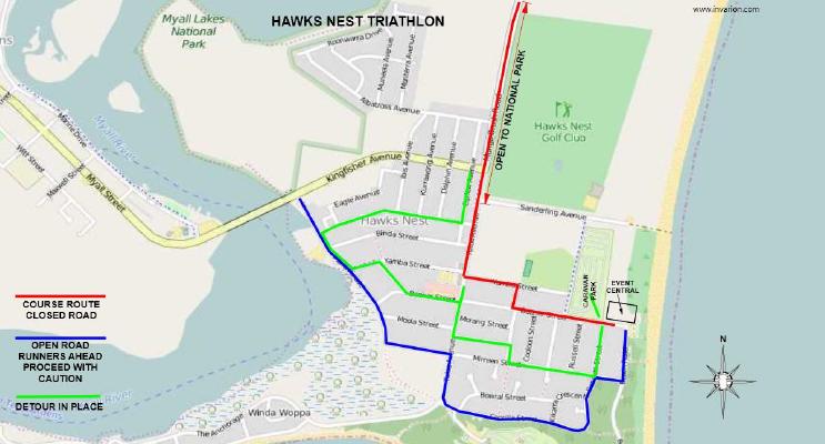 Hawks Nest Road Closures