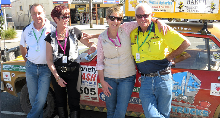 VARIETY: Regional Manager Victor Shiel with Deb Stapleton, Jimmo Woolfe and Lindsay Pollock