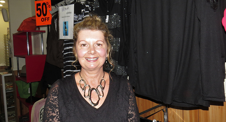 CLOSING SHOP: Mrs Kim Dorney from Watt's In Vogue.