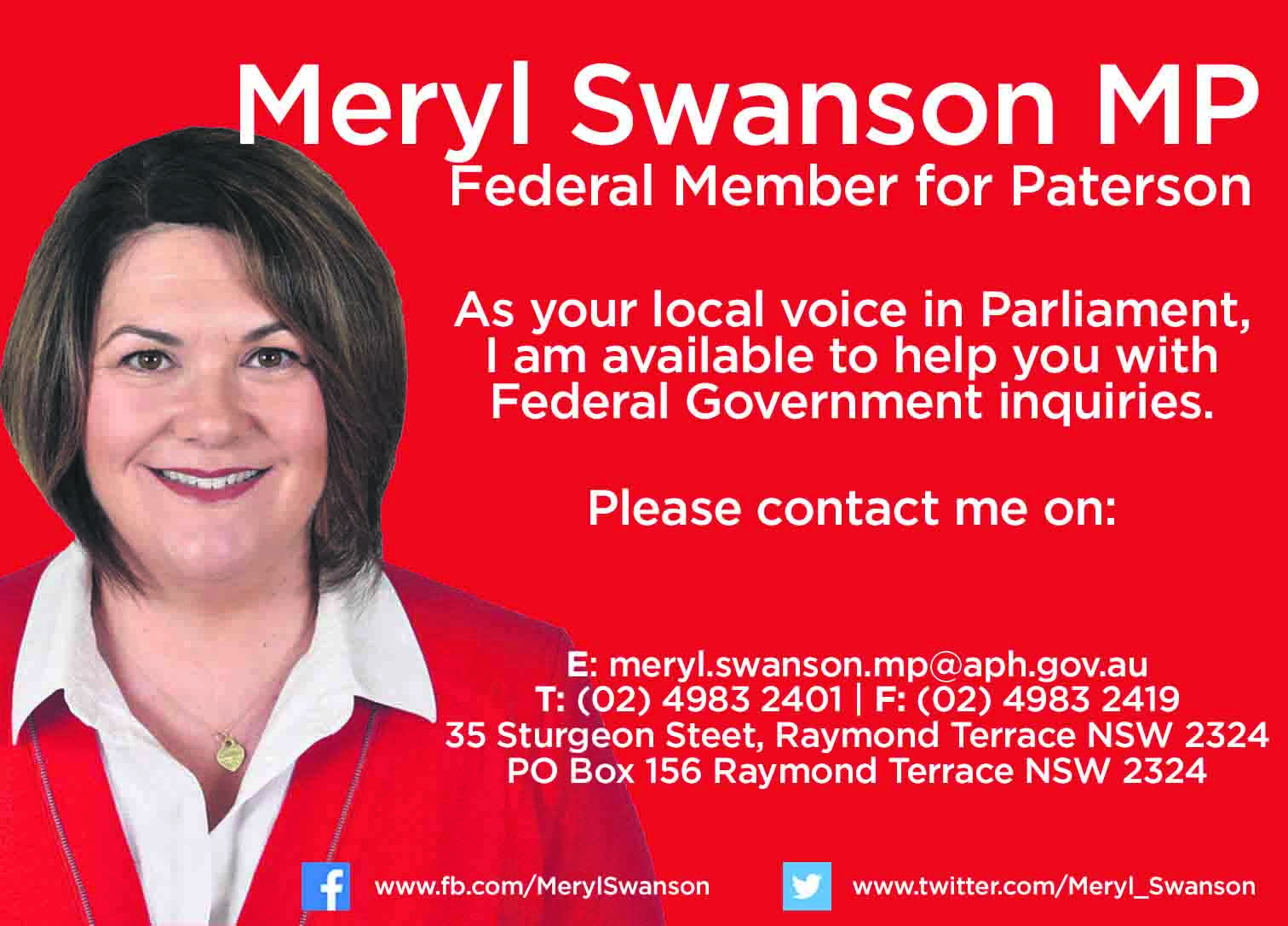 Meryl Swanson - Member for Paterson
