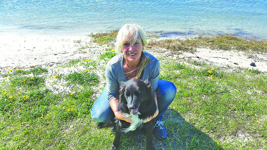 GREENPAWS: Sharon Beatson with Teddy the wonder dog.