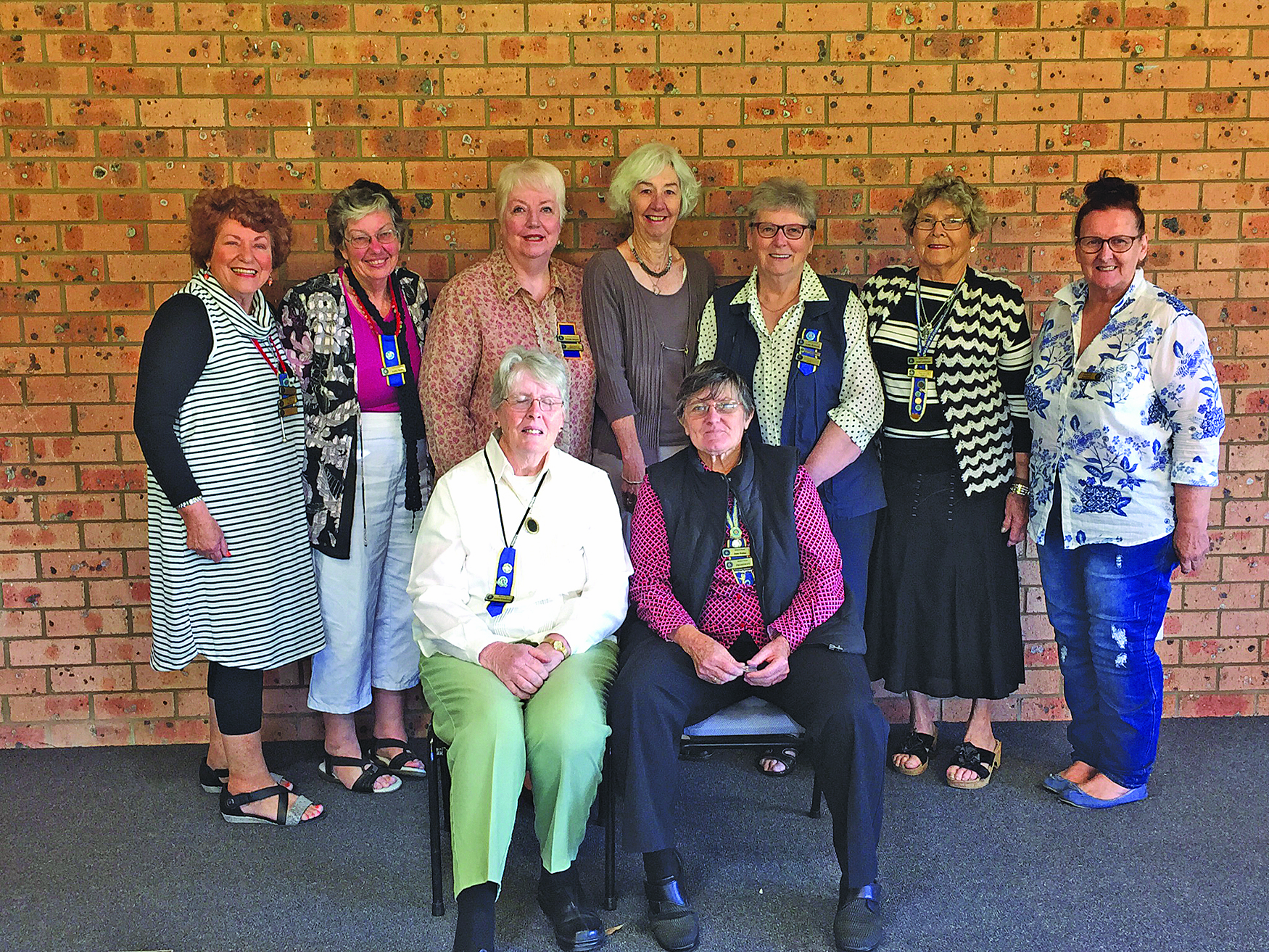 The 2017 Office Bearers for the CWA Medowie Branch