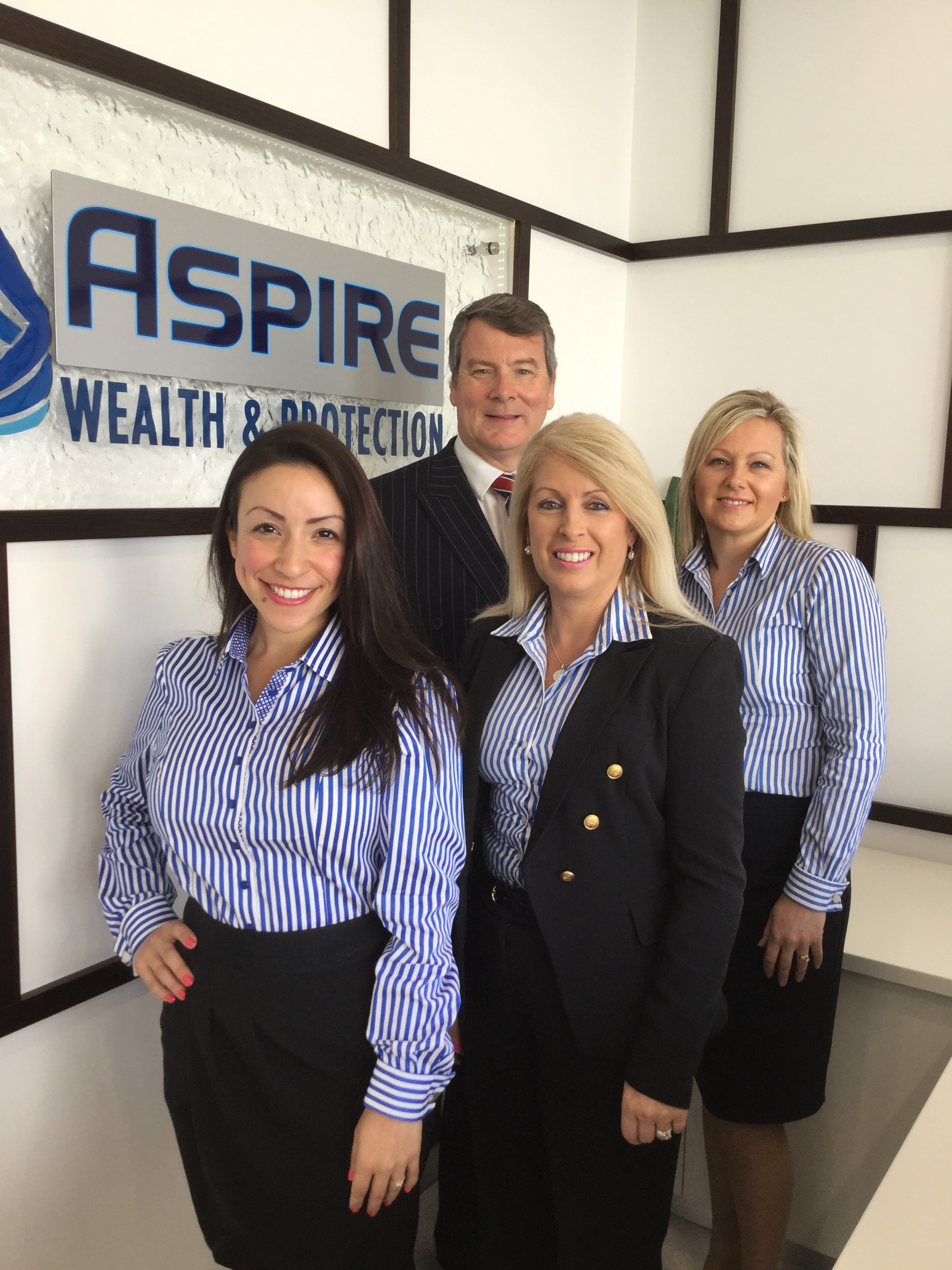 The team at Aspire Wealth and Protection Nelson Bay - Estelle Lopez, Chris Hale, Sue Hale and Michelle Glew.