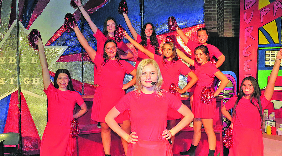 GREASE: Paris Battle in the role of Sandy with the Rydell High Cheerleaders.