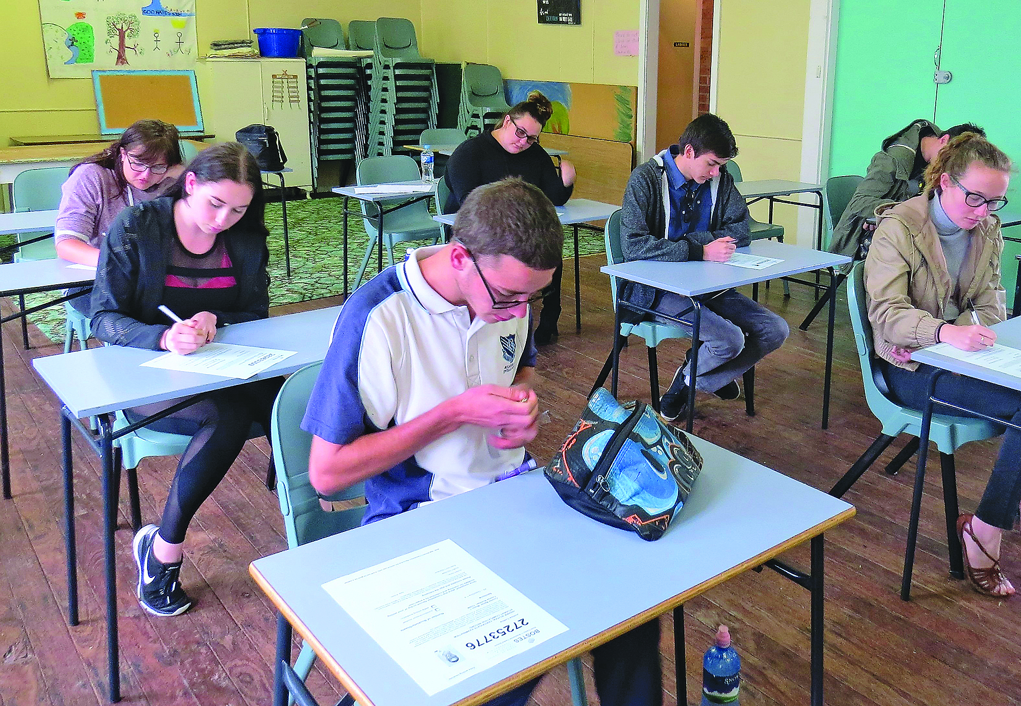 EXAM: Year 12 Music students in Bulahdelah.