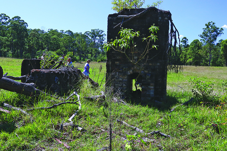 THE BRANCH: Remains of a chimney may hold the key