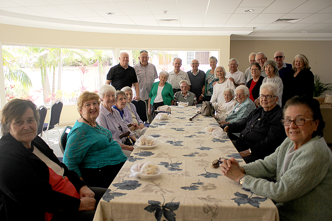 Thankful for the friendships that Rotary's afternoon tea is providing is Suzanne Stuckey pictured, front right with fellow friends and Rotarians. Photo by Jewell Drury