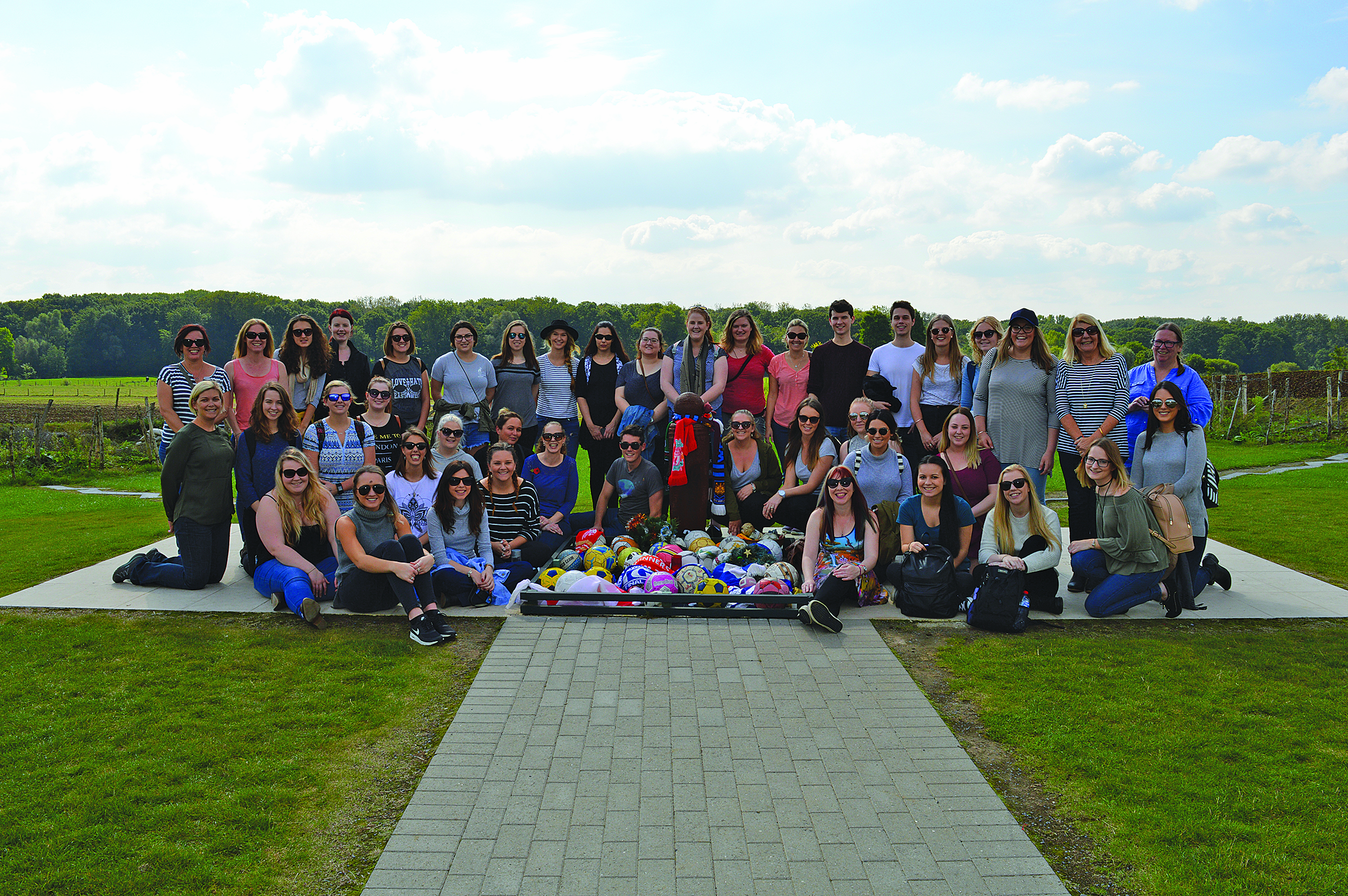 University of Newcastle Study Tour at the site of the 1914 Christmas Truce