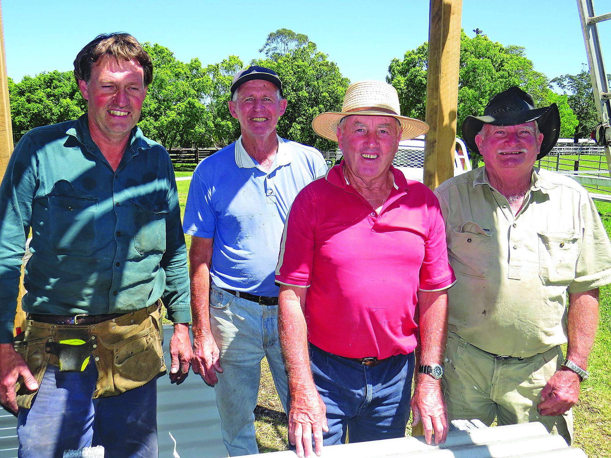 RENOVATIONS: Show Society members Trevor Barry, Leo Turnbull, Gary Gooch and Andrew Moncrief.