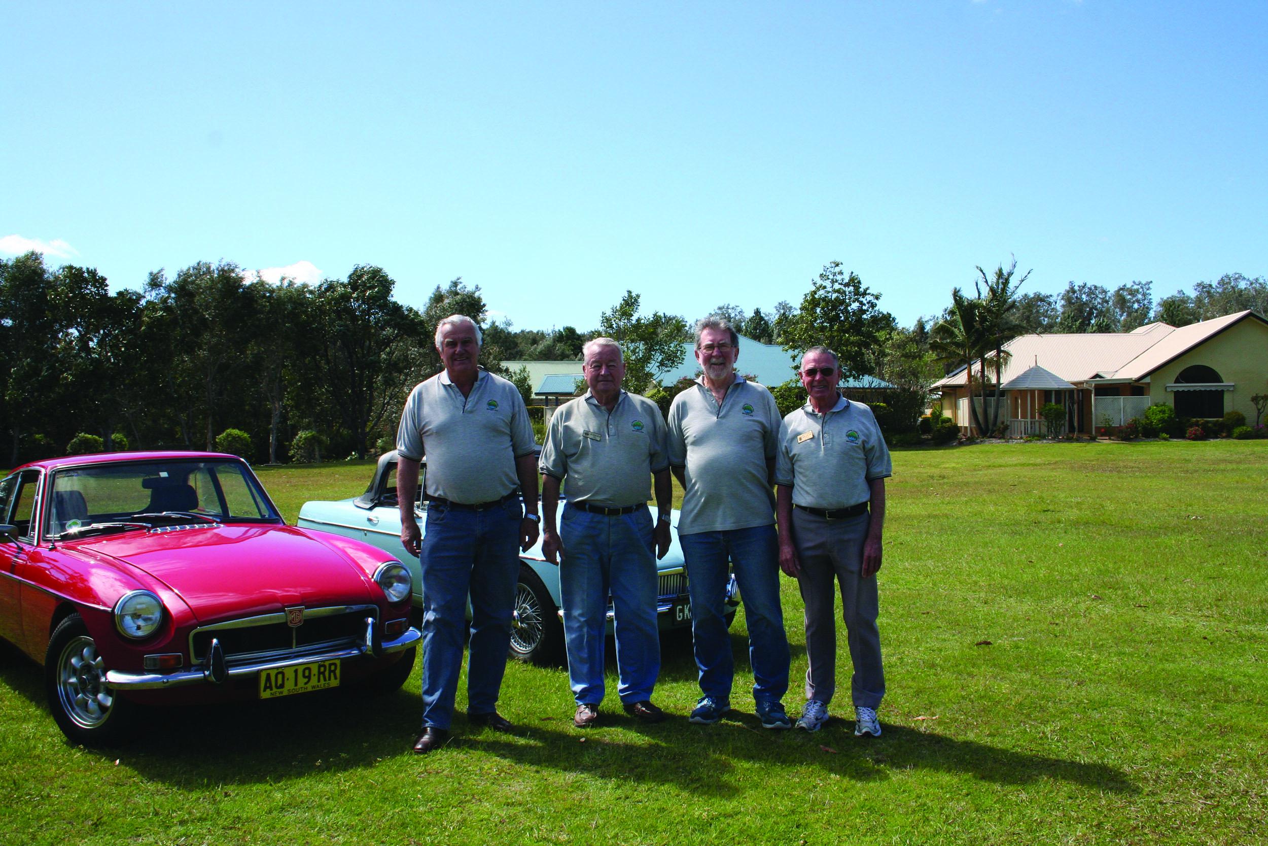 The new Club Committee Ranald Mackay, Juergen Seil, Phil Hoare, Graham Kelly.