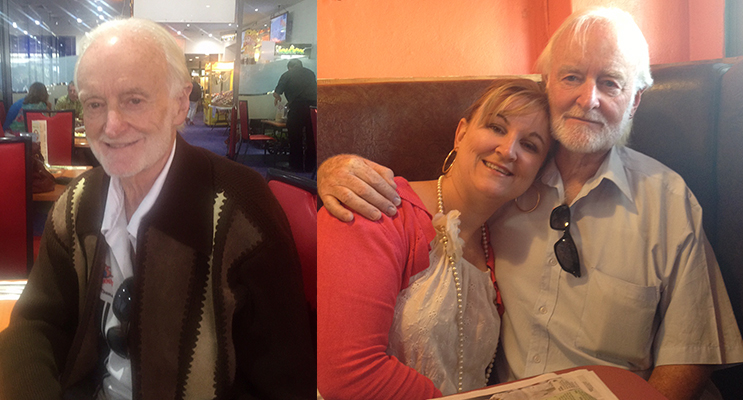 Barry Hopkins. (left) Barry and his daughter, Rebecca Garlick, who kicked off the outpouring of kindness.(right)