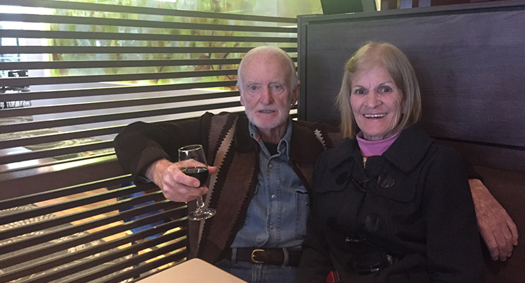 Barry and his wife of 47 years, Wendy.