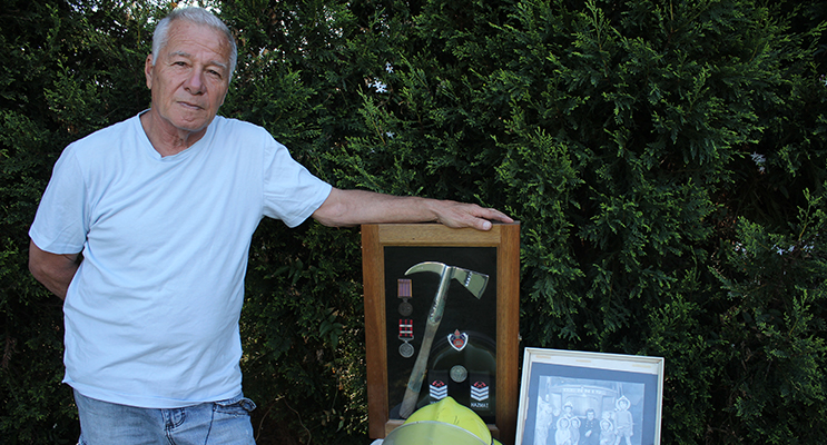 Corlette Resident Geoff Zipper (Swampy) looking for answers after 35 years of service with the NSW Fire Service                  Photo Jewell Drury